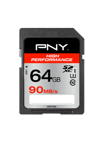 PNY 64GB SDXC 90/40MB/s UHS-I U3